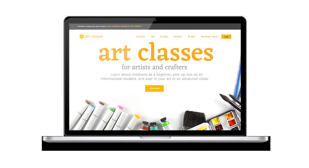 Art Classes Website 1