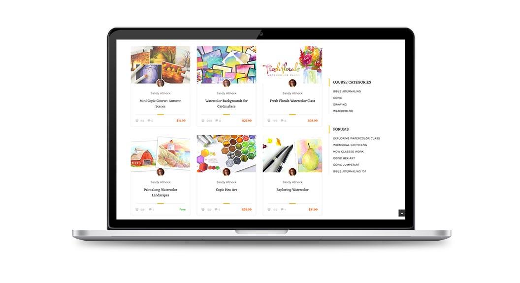 Art Classes Website 2
